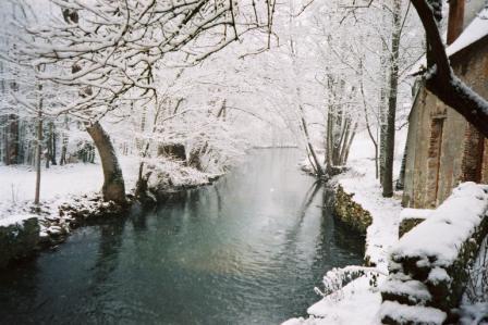Le bief en hiver